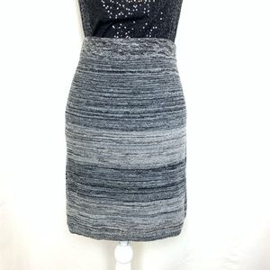 Loft sweater skirt gray and black size large